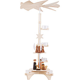 2 - stöckige Pyramide L - Form, Christi Geburt und Engel  -  50cm