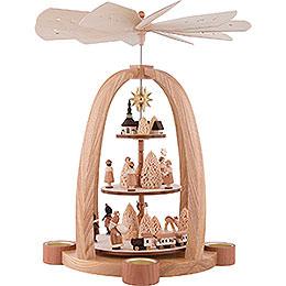 3 - Tier Pyramid  -  Christmas Time  -  41cm / 16 inch