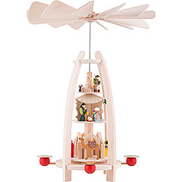 3 - Tier Pyramid  -  Nativity  -  35cm / 13.7 inch