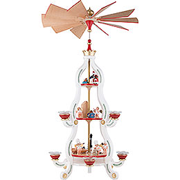 3 - Tier Pyramid  -  White Tradition  -  85,5cm / 34 inch