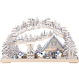 3D Candle Arch  -  Snowmolli Paradise with White Frost  -  72x43cm / 28x17 inch