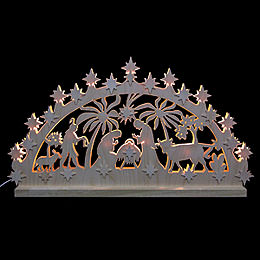 3D Double Arch  -  Nativity Motif  -  72x40x5,5cm / 28x16x2 inch