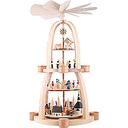 4 - Tier Pyramid  -  Christmas in Seiffen  -  69cm / 27 inch