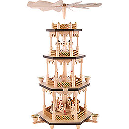 4 - Tier Pyramid  -  Nativity Scene  -  54cm / 21 inch