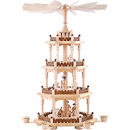 4 - stöckige Pyramide Krippenszene  -  51cm
