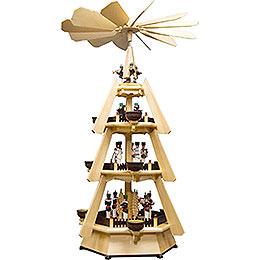 4 - stöckige Pyramide mit Bergleuten  -  73,5cm