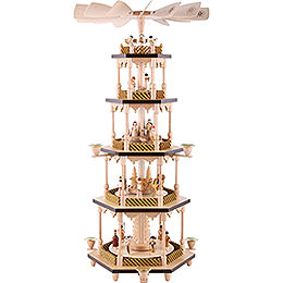 5 - Tier Pyramid  -  Nativity Scene  -  70cm / 27.5 inch