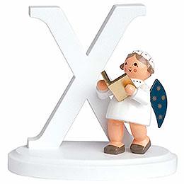 "Angel Letter ""X""  -  7cm / 2.8 inch"