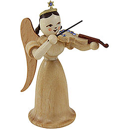 Angel Long Skirt with Violin with SWAROVSKI ELEMENTS, Natural  -  6,6cm / 2.5 inch