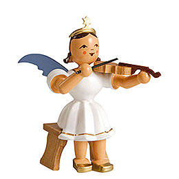 Angel Short Skirt Colored, Violin Sitting  -  6,6cm / 2.6 inch