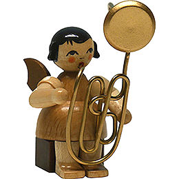 Angel with Contrabass Trombone  -  Natural  -  Sitting  -  6cm / 2.4 inch