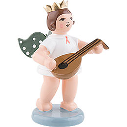 Angel with Crown and Lute  -  6,5cm / 2.5 inch