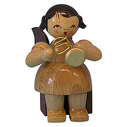 Angel with Flugelhorn  -  Natural Colors  -  Sitting  -  5cm / 2 inch