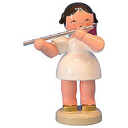 Angel with Flute  -  Red Wings  -  Standing  -  9,5cm / 3,7 inch