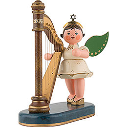 Angel with Harp  -  16cm / 6 inch