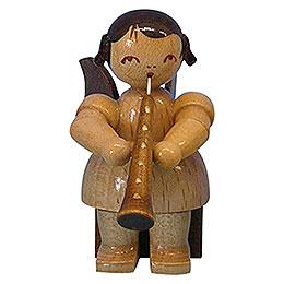 Angel with Oboe  -  Natural Colors  -  Sitting  -  5cm / 2 inch