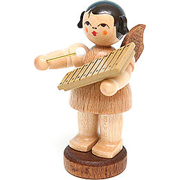 Angel with Xylophone  -  Natural Colors  -  Standing  -  6cm / 2.4 inch