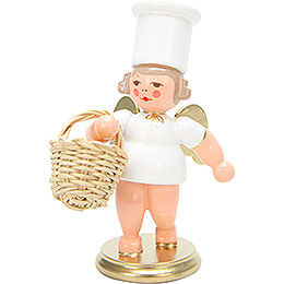 Angels Cooking Angel with Apple Basket  -  7,5cm / 3 inch