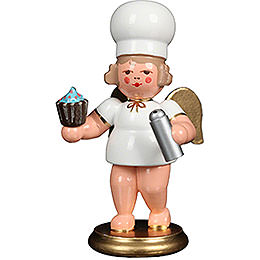 Baker Angel with Cupcake  -  7,5cm / 3 inch