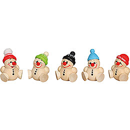 Ball Figures Cool Man Junior  -  5 pcs.  -  4cm / 2 inch