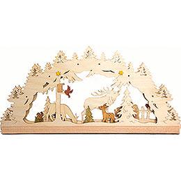 Bastelset Lichterbogen Wald elektrisch  -  55x27cm