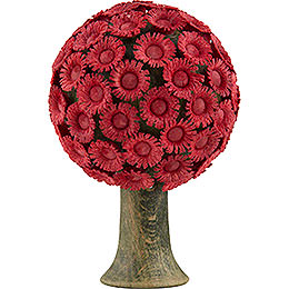 Blütenbaum rot  -  6x4cm