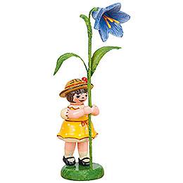 Blumenkind Mädchen mit Blauglöckchen  -  11cm