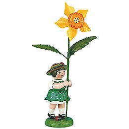 Blumenkind Mädchen mit Narzisse 2. Auflage  -  11cm