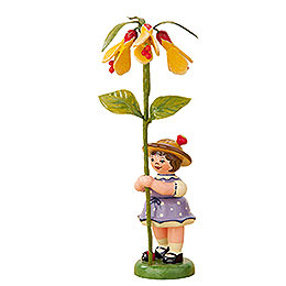 Blumenkind Mädchen mit Schönmalve  -  11cm