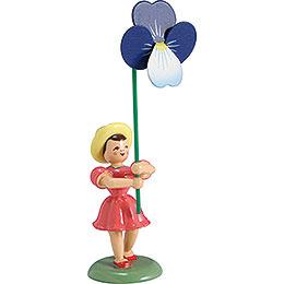 Blumenkind Stiefmütterchen, farbig  -  12cm