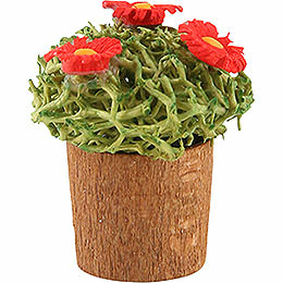 Blumentopf mit Blüten  -  3cm