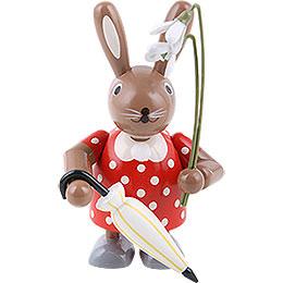 Bunny Female with Flower  -  11cm / 4 inch