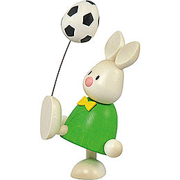 Bunny Max with Football  -  9cm / 3.5 inch