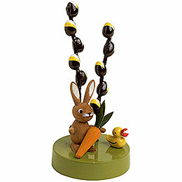 Bunny with Pussy Willow  -  7cm / 3 inch