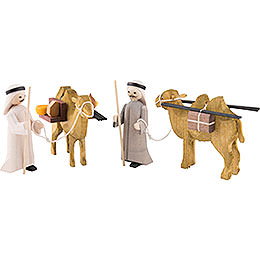Camel Herders, Set of Four, Glazed  -  7cm / 2.8 inch
