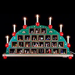 Candle Arch  -  Advent Calendar  -  48x76cm / 19x30 inch
