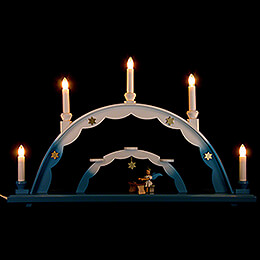 Candle Arch  -  Angel at Zither and Electric Lights  -  55x32cm / 21.7x12.6 inch