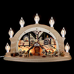 Candle Arch  -  Christmas Bakery  -  57x38x15cm / 22x15x7 inch