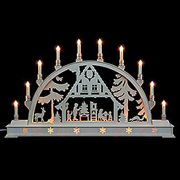 Candle Arch  -  Christmas House with Base  -  78x45cm / 31x18 inch