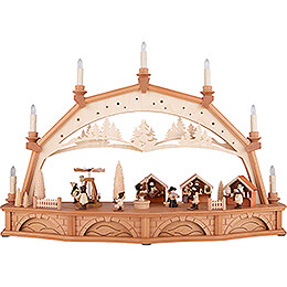 Candle Arch  -  Christmas Market with Turning Pyramid  -  75x50cm / 29.5x19.7 inch