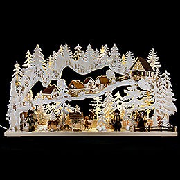 Candle Arch  -  Joy of the Forest with White Frost  -  85x45cm / 33x18 inch