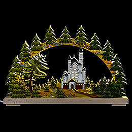 Candle Arch  -  New Swantone Castle, Summer Time  -  43x30cm / 17x12 inch