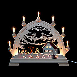 Candle Arch  -  Round Arch with Deer  -  40x43cm / 16.9 inch