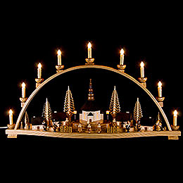 Candle Arch  -  Seiffen Villlage  -  78x42cm / 31x17 inch