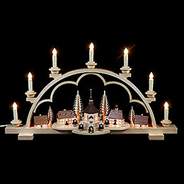 Candle Arch  -  Village Seiffen  -  64cm / 25 inch  -  illuminated houses