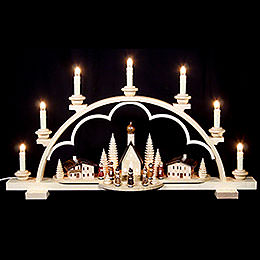 Candle Arch  -  Village in the Alps  -  64cm / 25 inch  -  120 V Electr. (US - Standard)