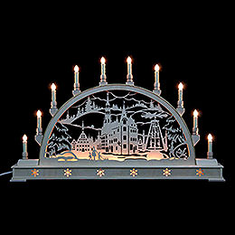 Candle Arch  -  Zwickau with Base  -  78x45cm / 31x18 inch
