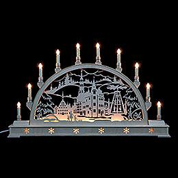 Candle Arch  -  Zwickau with Base  -  78x45cm / 31x18 inch