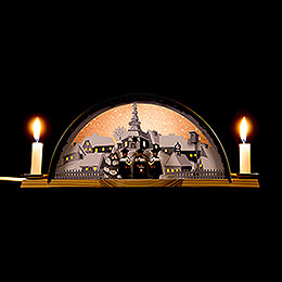 Candle Arch with Carolers and Ore Arch  -  33x14cm / 13x5.5 inch