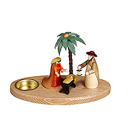 Candle Holder  -  Nativity Scene  -  12cm / 5 inch